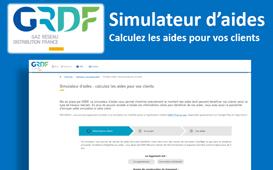GRDF - Simulateur d'aides : calculez les aides pour vos clients